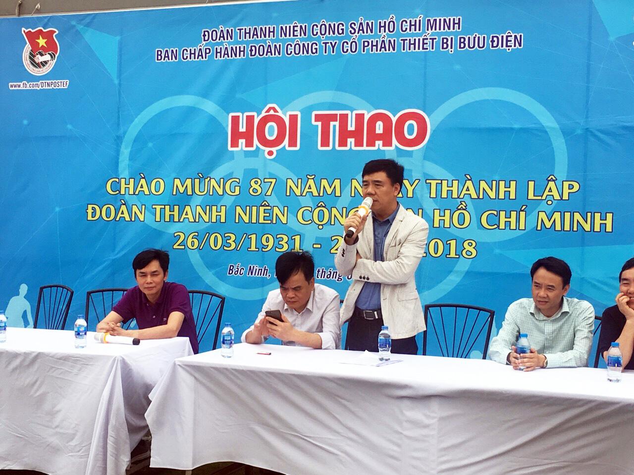 Đoàn TNCS HCM công ty cổ phần thiết bị Bưu điện tổ chức Hội thao chào mừng 87 năm ngày thành lập Đoàn TNCS HCM